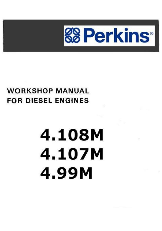 Perkins Marine 4.108M, 4.107M, 4.99M workshop manual p1