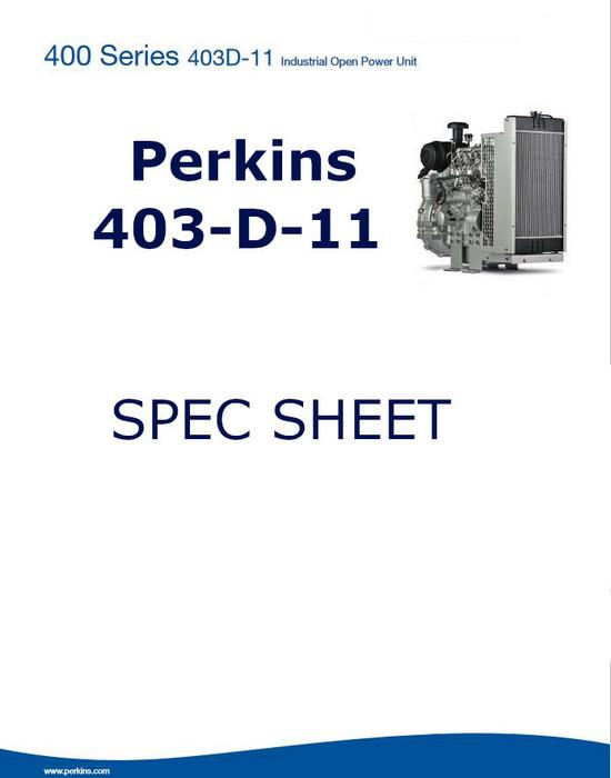 Perkins 403D-11, spec sheet p1