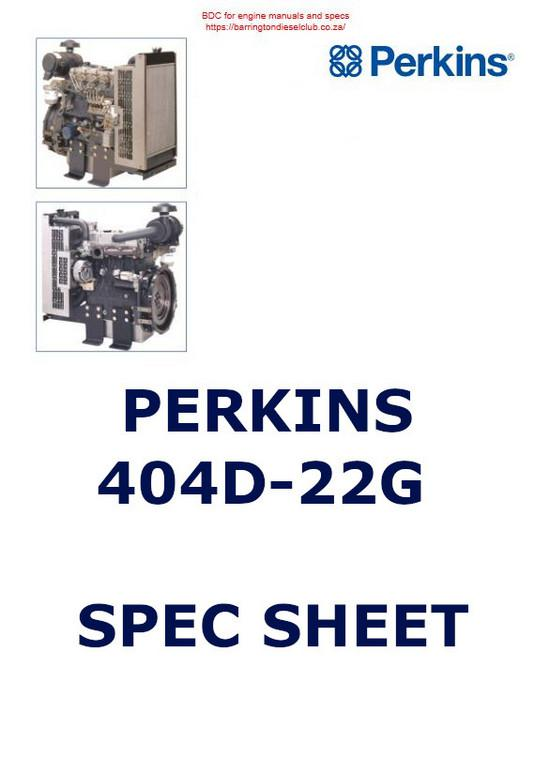 Perkins 402D-22G, spec sheet p1