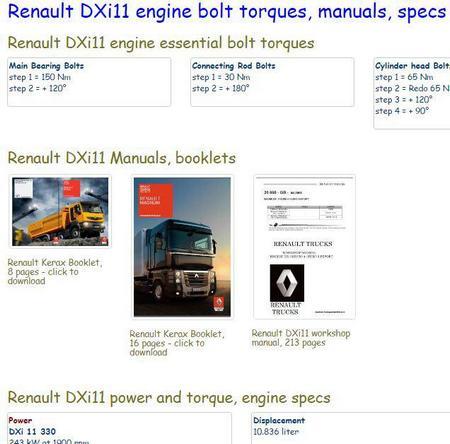 image Renault DXi11 essential specs snip