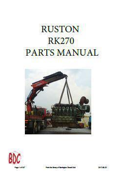 Ruston RK270 PDF parts manual p1