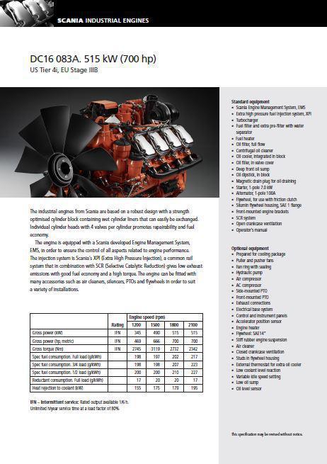 image p1 Scania DC16 Spec Sheet