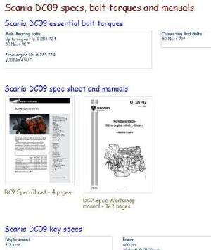 Image Scania DC09 essential specs