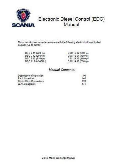 Scania DSC 09, 11, 12 and 14 EDC - electronics manual p1