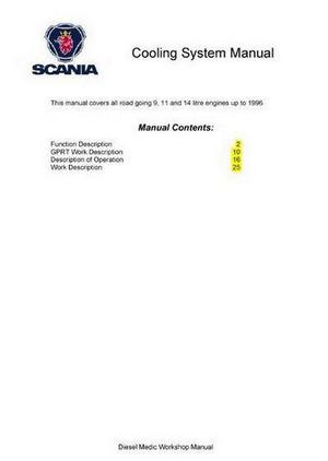 Scania DSC09, 11 and 14 cooling system manual p1