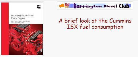 Cummins isx fuel consumption