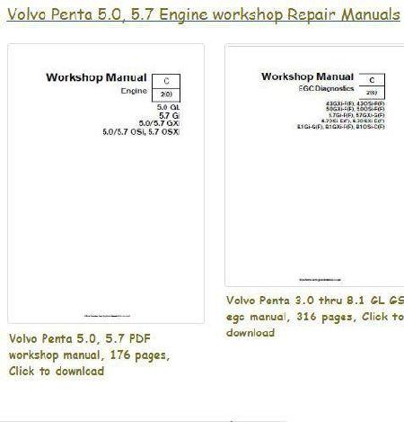 index of volvo 5 0 5 7 rh barringtondieselclub co za Volvo Penta 5.0 GI Parts Volvo Penta 5.0 GL