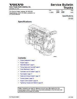 volvo d12d specifications p1 volvo d12 specs, bolt torques and manuals  at n-0.co